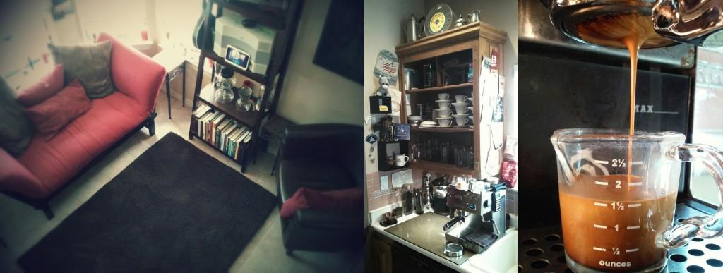 our cafe room, my bar, espresso shot